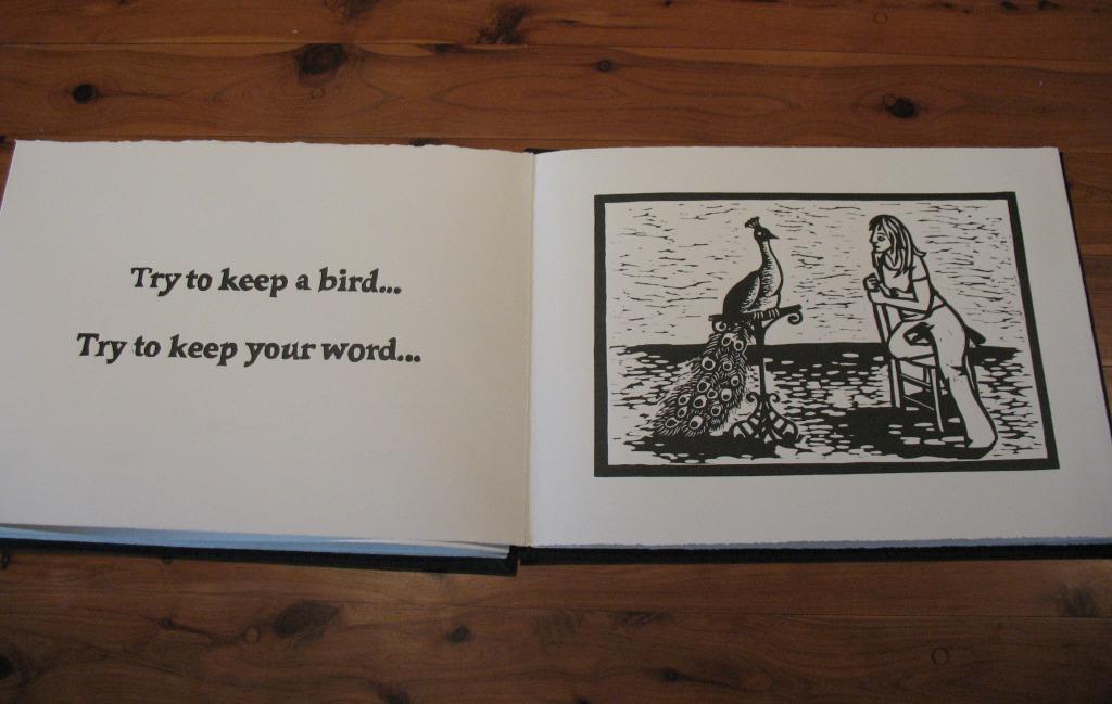 Linocut Artists' Book by Shana James